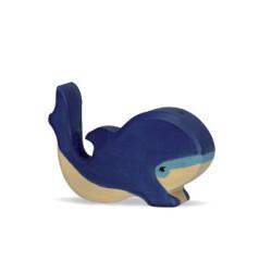 Ballena pequeña - animal de madera
