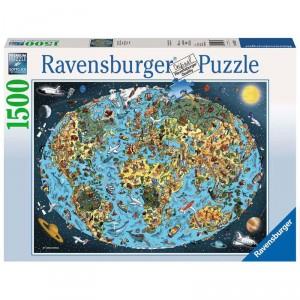 Puzzle Tierra coloreada - 1500 piezas