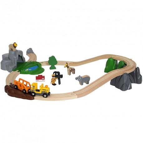 Set Aventura en el Safari - Circuit tren de fusta