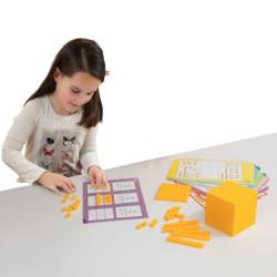 Base 10 -  Set de conceptos numéricos set para el aula 121 piezas