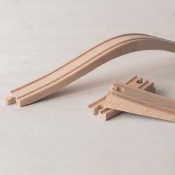 Accesorio puente arqueado - 4 piezas de madera