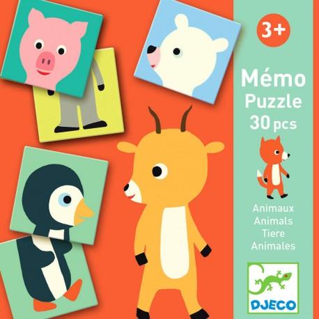 Mémo Puzzle Animales - 30 piezas
