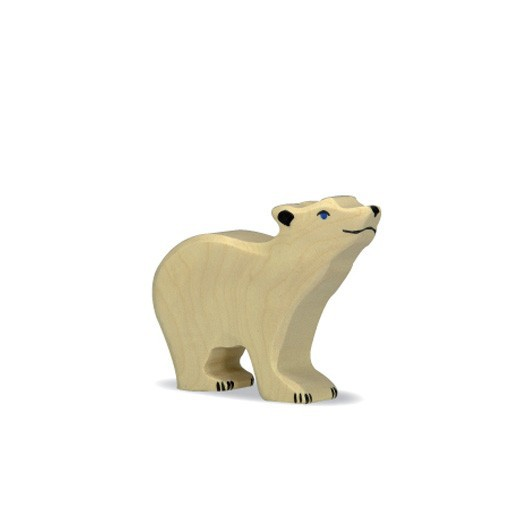 Oso Polar pequeño - animal de madera