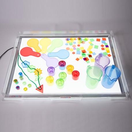 Safata protectora d'exploració transparent per a taula de llum A2