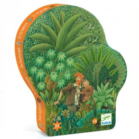 Puzzle silueta En la Selva - 54 pzas.