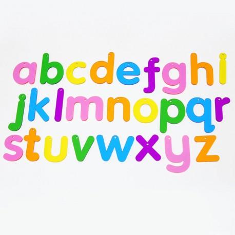 Letras acrílicas de colores - minúsculas