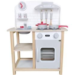 Cocina de madera Gris con accesorios