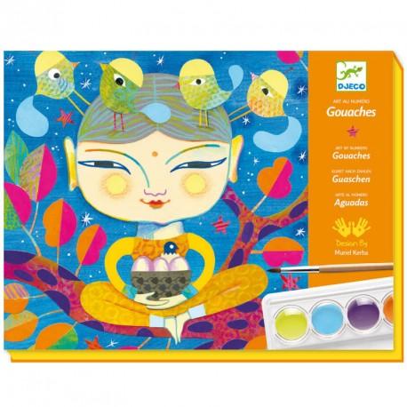 Pintures aigualides Art al número - Índia