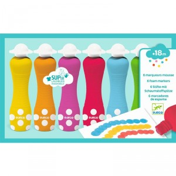 6 marcadores de espuma para peques