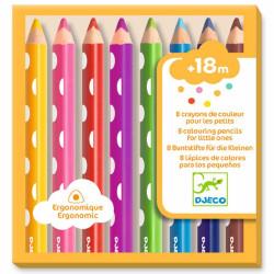 8 lápices de colores para peques