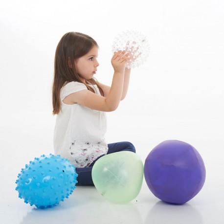 Set 4 pilotes inflables de formes curioses de 20cm