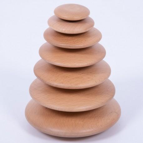 7 Cercles vacil·lants de fusta natural