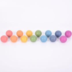 Bolas Arco Iris 5 cm - 14 piezas de madera