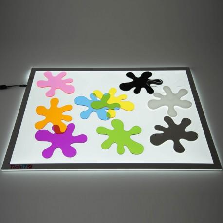 Splats - 10 coloridas manchas acrílicas transparentes