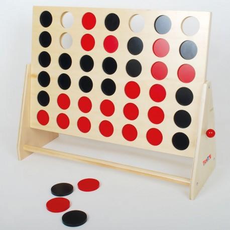 4 en raya XL de madera - juego estratégico para 2 jugadores