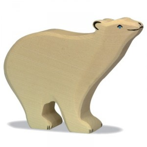Oso Polar - animal de madera