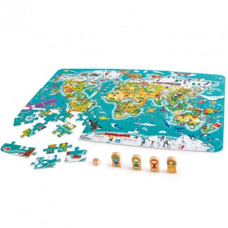 La vuelta al mundo 2 en 1 - juego + puzle 100 piezas