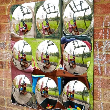 Panell de miralls 78cm amb 9 cercles convexos