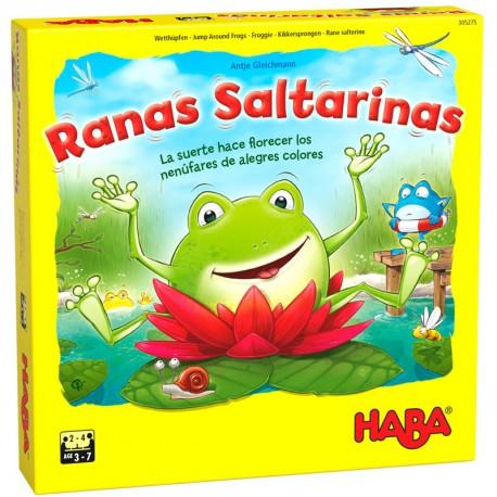Ranas Saltarinas - colorido juego de dados para 2-4 jugadores