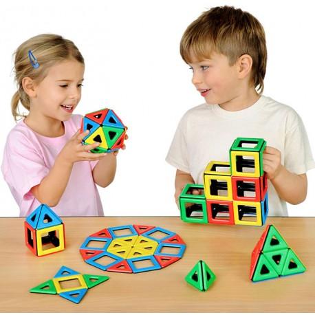 Magnetic Polydron 96 piezas para el aula - juguete de formas geométricas