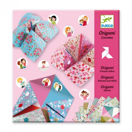 Papiroflexia Origami - Salero niñas (comecocos)