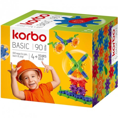 Korbo Basic 90 - juguete de construcción con engranajes