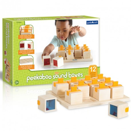 Peekaboo - cajas de madera con sonidos