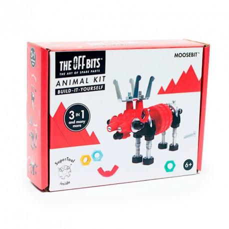 OFFBITS Kit Animal 3 en 1 con SuperTool Moosebit - juguete de construcción con piezas de repuesto
