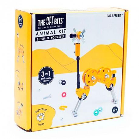OFFBITS Kit Girafa 3 en 1 amb SuperTool Giraffebit - joguina de construcció amb peces de recanvi