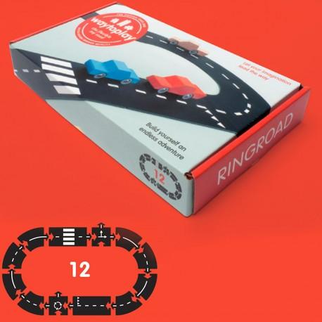 Ringroad - Carretera Flexible de caucho waytoplay 12 piezas