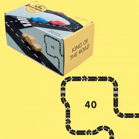 King of the road - Carretera Flexible de caucho waytoplay 40 piezas