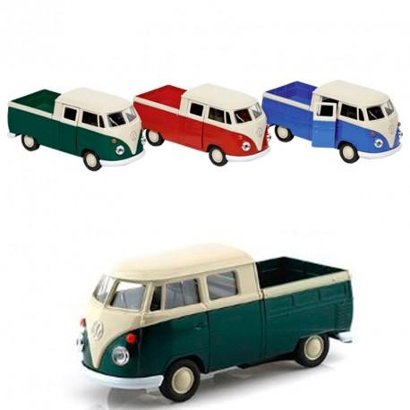 Volkswagen T1 Doka Pick-up Verda - furgoneta a escala de metall