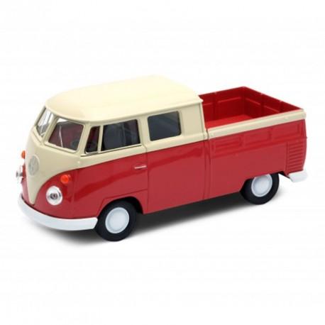 Volkswagen T1 Doka Pick-up Roja - furgoneta a escala de metal