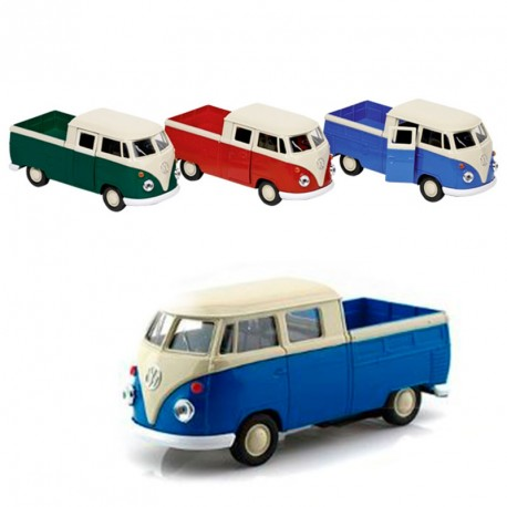 Volkswagen T1 Doka Pick-up Vermella - furgoneta a escala de metall
