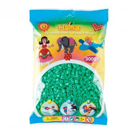 3000 perlas Hama de color verde claro (bolsa)