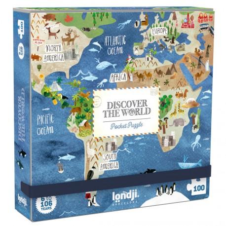 Puzzle de bolsillo Descubre El Mundo - 100 pzas.