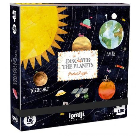 Puzzle de bolsillo Descubre Los Planetas - 100 pzas.