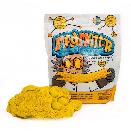 Mad Mattr - masa arenosa moldeable color amarillo