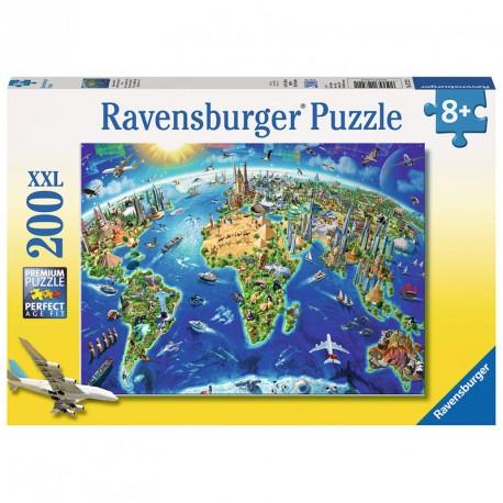Puzzle El mundo a vista de pájaro - 200 pzas.