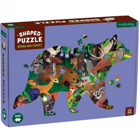 Puzzle Silueta de Oso Woodland Forest - 300 pzas.