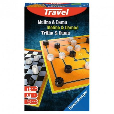 Molino y Damas Travel - Juegos clásicos para llevar