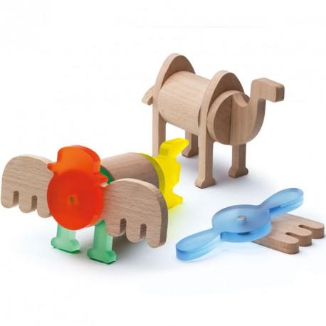 Fauna Imaginaria Set 22 piezas- Juguete imantado de construcción