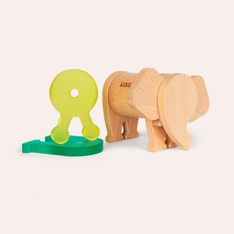 Fauna Imaginaria Elefante Snack 7 piezas- Juguete imantado de construcción