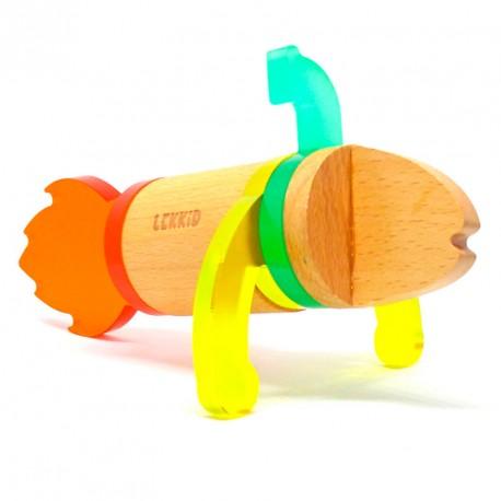Fauna Imaginaria Pez Snack 6 piezas- Juguete imantado de construcción