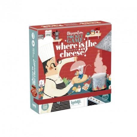 Where is the...cheese? Pocket Game - joc d'observació i rapidesa per 2-6 jugadors