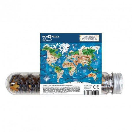 Micropuzzle Descubre El Mundo - 150 pzas.