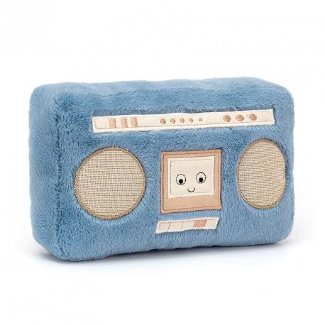 Peluche radiocassette Boombox Wiggedy