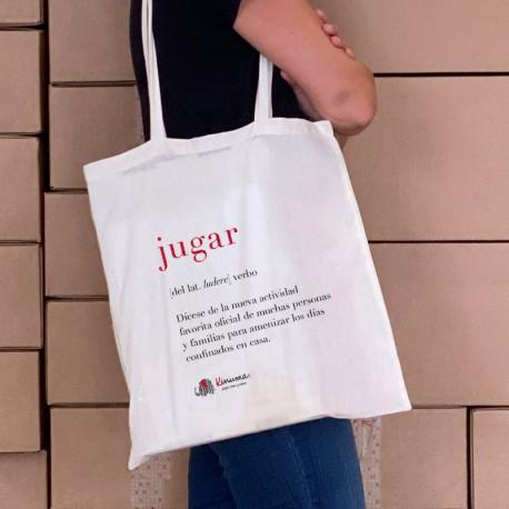 Totebag bolsa solidaria JUGAR en castellano