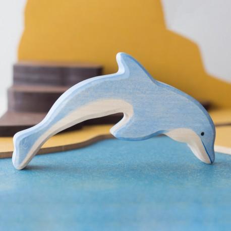 Delfín saltando - animal de madera