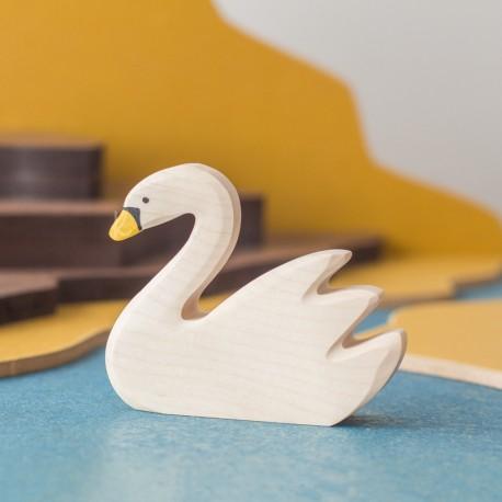 Cisne nadando - animal de madera